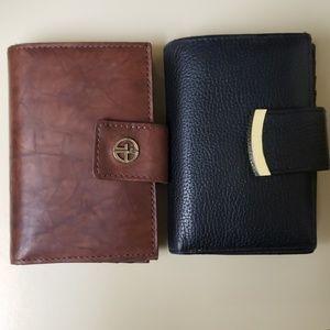 Giani Bernini Sandalwood leather index wallet BRN